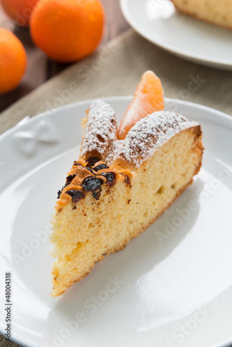 Slice of cake to the Mandarin