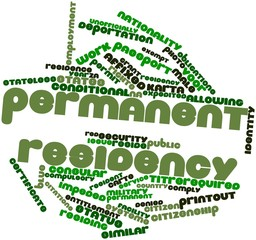 Word cloud for Permanent residency
