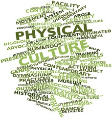 Word cloud for Physical culture