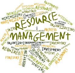Word cloud for Resource management