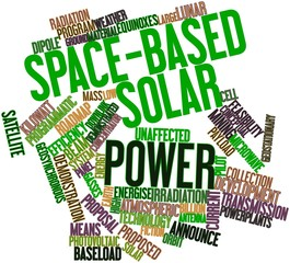 Word cloud for Space-based solar power