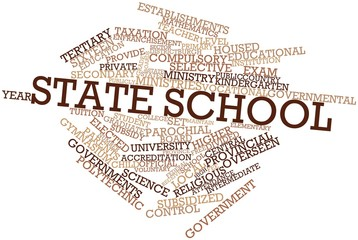 Word cloud for State school