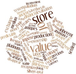 Word cloud for Store of value