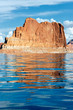 cliffs reflected in the lake Powell