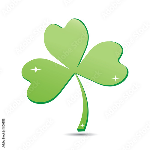 Clover icon isolated on white.