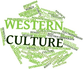 Word cloud for Western culture