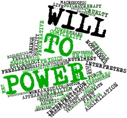 Word cloud for Will to power