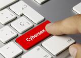 Cybersex keyboard key. Finger