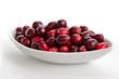 Schale mit Cranberries