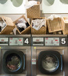 Laundromat with baskets