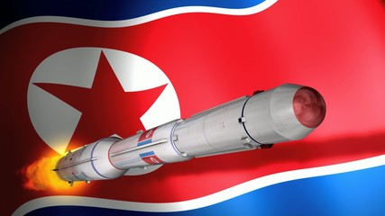 North Korea DPRK long-range rocket Unha-3.