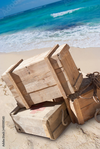 Supplies on a beach