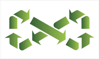 infinity recycle symbol, vector