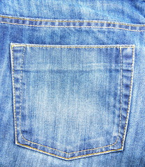Blue Jeans pocket of background