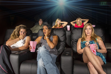 People Watching A Movie