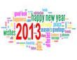 """2013"" Tag Cloud (happy new year season's greetings wishes)"