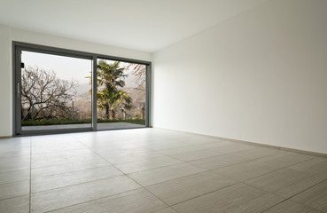 modern architecture, new empty apartment, room