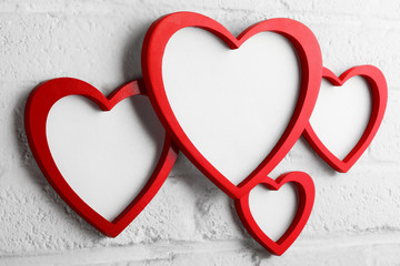 heart picture frame on white wall