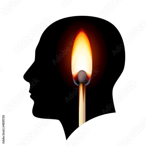 Creative ideas Burning match