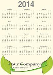 Calendario para el 2014