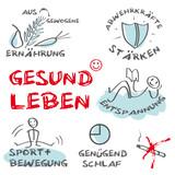 Fototapety Gesund Leben, keywords, Tafel, cloud