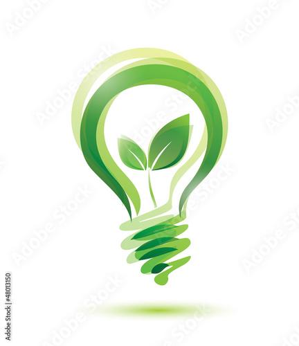 zielona żarówka