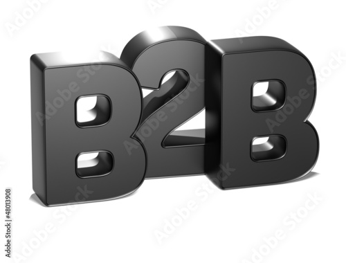 3D B2B on white background