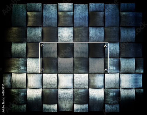 Abstract Iron  vintage background with glass plate