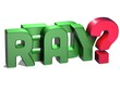 3D Word Ready on white background