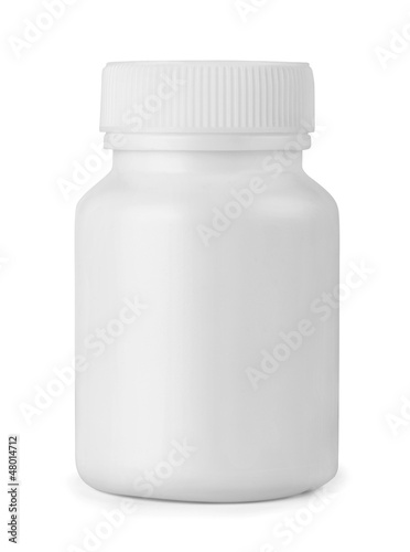 White plastic medicine bottle