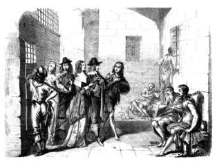 Aristocrats visiting a Prison - 17th century