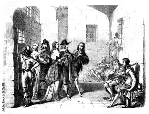 Aristocrats visiting a Prison - 17th century