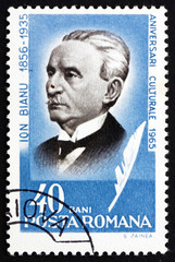 Postage stamp Romania 1965 Ion Bianu, Philologist and Historian