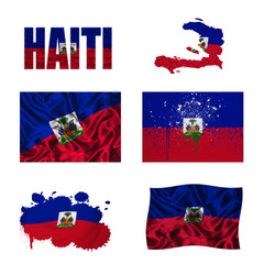 Haitian flag collage