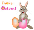Hase wünscht frohe Ostern