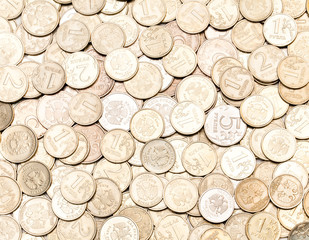 The background of the coins