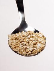 Cucharada de hojuelas de avena,cereal.