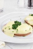 Egg Benedict and Ham