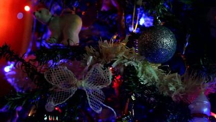 Décorations lumineuses du sapin de Noël