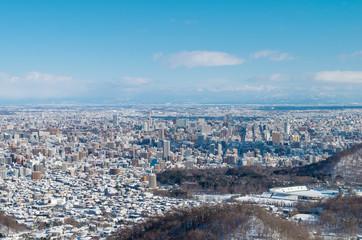 冬の札幌市(大倉山から)