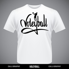 Voleyball hand lettering - handmade calligraphy