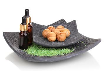 aromatherapy setting isolated on white.