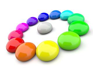 3D Farbkreis aus Tropfen