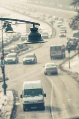 Traffic at winter