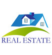 Real estate blue house logo vector