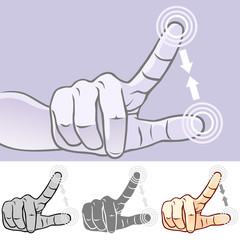 MultiTouch Hand Gestures For Smartphone, Tablet And Pad- Pinch