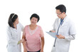 asian senior female medical checkup with doctors ,south east asi