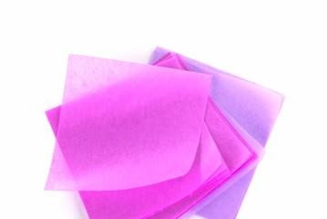Pink craft paper