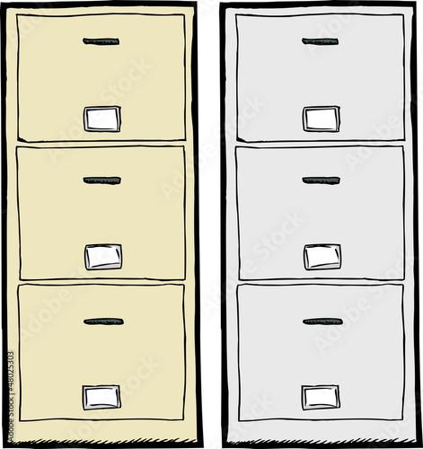 Filing Cabinet Illustration
