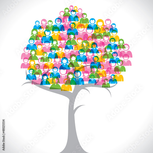 businessmen and women tree
